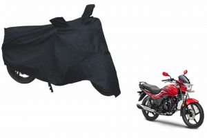 Spidy Moto Sporty Champion Bike Body Cover Water Proof Black - Hero Motocorp Passion Xpro
