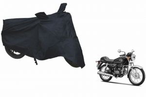 Spidy Moto Sporty Champion Bike Body Cover Water Proof Black - Hero Motocorp Splendor Pro Classic 1