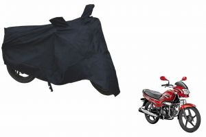 Spidy Moto Sporty Champion Bike Body Cover Water Proof Black - Hero Motocorp Super Splendor