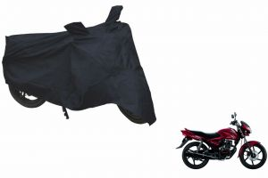 Spidy Moto Sporty Champion Bike Body Cover Water Proof Black - Honda Cb Shine