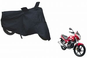 Spidy Moto Sporty Champion Bike Body Cover Water Proof Black - Honda Cb Unicorn