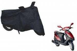 Spidy Moto Sporty Champion Bike Body Cover Water Proof Black - Mahindra Scooter Flyte