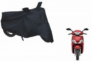 Spidy Moto Sporty Champion Bike Body Cover Water Proof Black - Mahindra Scooter Gusto