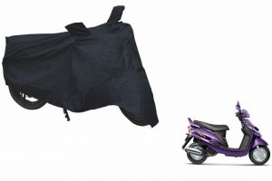 Spidy Moto Sporty Champion Bike Body Cover Water Proof Black - Mahindra Scooter Rodeo Rz