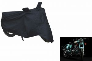Spidy Moto Sporty Champion Bike Body Cover Water Proof Black - Royal Enfield Retro Street Classic 350