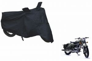 Spidy Moto Sporty Champion Bike Body Cover Water Proof Black - Royal Enfield Retro Street Classic Bettle Green