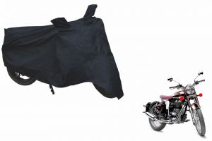 Spidy Moto Sporty Champion Bike Body Cover Water Proof Black - Royal Enfield Retro Street Classic Chrome