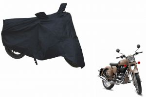 Spidy Moto Sporty Champion Bike Body Cover Water Proof Black - Royal Enfield Retro Street Classic Desert Storm