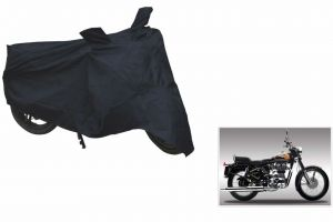 Spidy Moto Sporty Champion Bike Body Cover Water Proof Black - Royal Enfield Standard Street Bullet 350