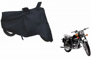 Spidy Moto Sporty Champion Bike Body Cover Water Proof Black - Royal Enfield Standard Street Bullet 500