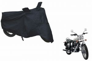 Spidy Moto Sporty Champion Bike Body Cover Water Proof Black - Royal Enfield Standard Street Bullet Electra 350