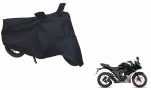 Spidy Moto Sporty Champion Bike Body Cover Water Proof Black - Suzuki-gixxer Sf