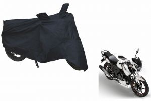 Spidy Moto Sporty Champion Bike Body Cover Water Proof Black - Tvs Apache Rtr 160