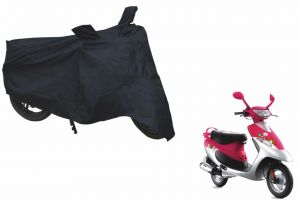 Spidy Moto Sporty Champion Bike Body Cover Water Proof Black - Tvs Scooty Pep Plus
