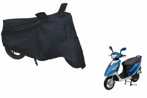 Spidy Moto Sporty Champion Bike Body Cover Water Proof Black - Tvs Scooty Streak