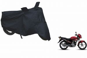 Spidy Moto Sporty Champion Bike Body Cover Water Proof Black - Yamaha Ybr-125