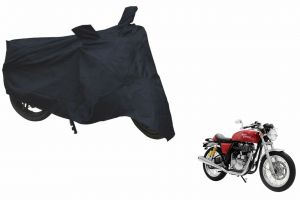 Spidy Moto Sporty Champion Bike Body Cover Water Proof Blue - Royal Enfield Caf Racer Continental Gt