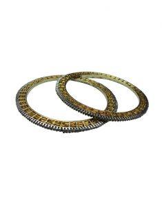 Diamond Bangles, Bracelets - Snoby American Diamond Gold Plated Bangles SBYRSJ_028