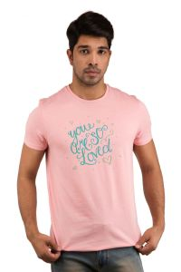 T Shirts (Men's) - Snoby You are so Loved Print T-shirt(SBY18175)