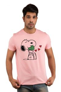 T Shirts (Men's) - Snoby Puppy morning Printed T-shirt(SBY18210)