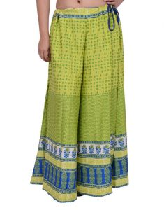 Snoby Green Printed Cotton Sharara( Sby2029)