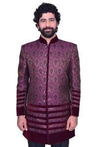 Men's Wear - Snoby Purple Jute Ethnic wear (SBY9003)