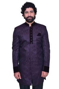 Men's Wear - Snoby Dark vhm heavy jute Purple Ethnic wear (SBY9005)