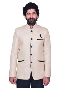 Kurtas (Men's) - Snoby Cream Jute Ethnic wear(9008)