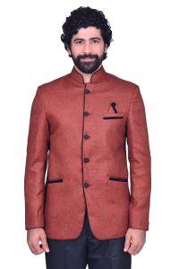 Kurtas (Men's) - Snoby Maroon Jute Ethnic wear (SBY9009)