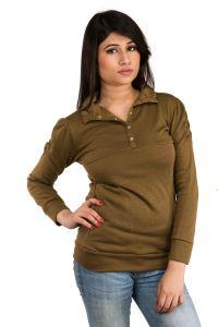 Winter wear for women (Misc) - Brown Plain T-shirt (SET_1037)
