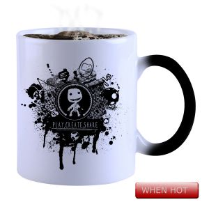 Tea & coffee maker - Snoby Magic Mug Black Ceramic Colour Changing Coffee Mug(SETG_729)