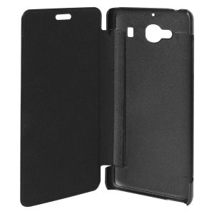 Snoby Artificial Leather Flip Cover For Xiaomi Redmi 2 Prme (black) (setm_235)