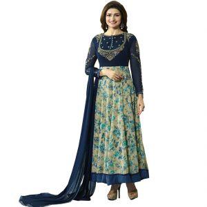 Bollywood replica anarkali suits and salwar kameez - Fashionuma Indian Stylish Designer Bollywood Replica Gerogette Embroidered Anarkali Salwar Suit F1024