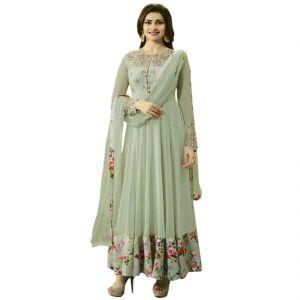 Bollywood replica anarkali suits and salwar kameez - Fashionuma Indian Stylish Designer Bollywood Replica Gerogette Embroidered Anarkali Salwar Suit F1026