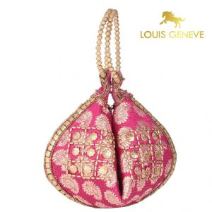 Wallets, Purses - Louis Geneve Potli For Ladies(Product Code)_Lg-P-Pink-11
