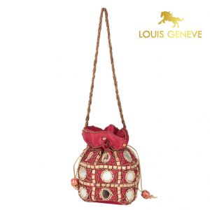 Potlis, Batwas - Louis Geneve Potli For Ladies(Product Code)_Lg-P-Maroon-22