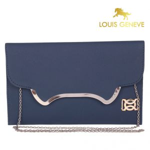 Wallets, Purses - Louis Geneve Clutch Bag For Ladies(Product Code)_Lg-Cb-Navy Blue-23