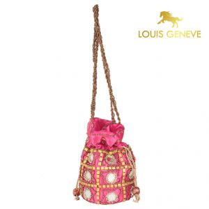Louis Geneve Potli For Ladies(product Code)_lg-p-pink-24