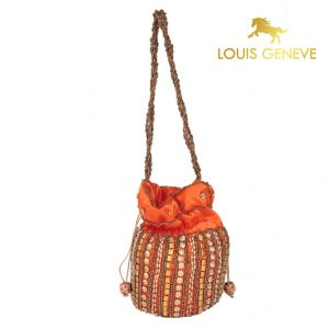 triveni,my pac,Solemio,Louis Geneve Apparels & Accessories - Louis Geneve Potli For Ladies(Product Code)_Lg-P-Orange-32