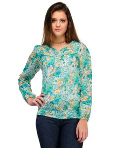 Sportelle Usa India Georgette Printed Top_7123_
