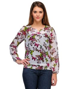Sportelle Usa India Georgette Printed Top_7124_