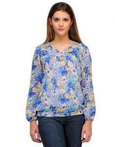 Sportelle Usa India Georgette Printed Top_7126_