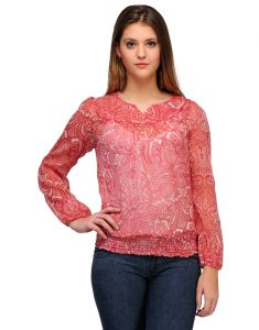 Sportelle Usa India Crepe Printed Top_7132_