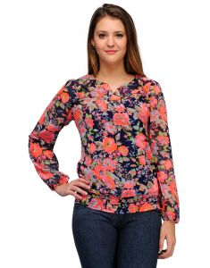 Tops & Tunics - Sportelle Usa India Georgette Printed Top_7135_