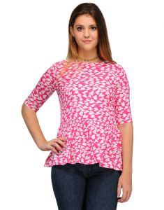 Sportelle Usa India Crepe Printed Top_7136_