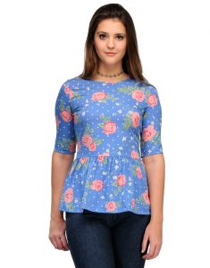 Tops & Tunics - Sportelle Usa India Crepe Printed Top_7137_