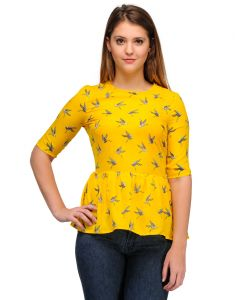 Sportelle Usa India Crepe Printed Top_7138_