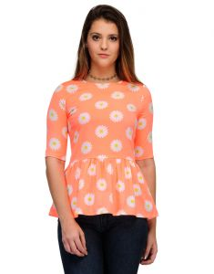 Sportelle Usa India Crepe Printed Top_7139_