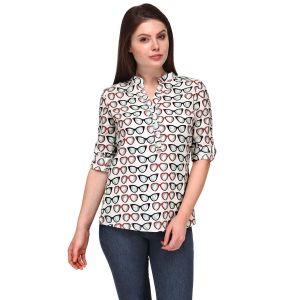 Tops & Tunics - Sportelle Usa India Crepe Printed Top_7185_