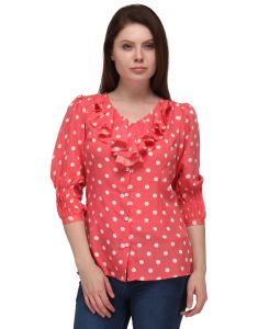 Sportelle Usa India Crepe Printed Top_7191_